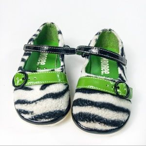 Gymboree Zebra Dress Shoes Sz 4